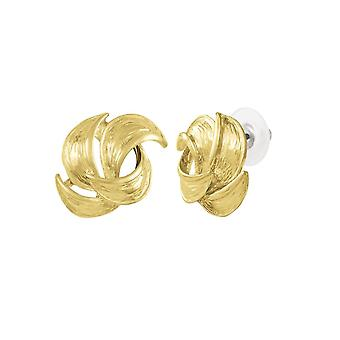Eternal Collection Enriched Gold Tone Pierced Earrings
