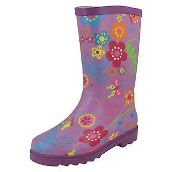 Flickor plats på Flower Print Boot
