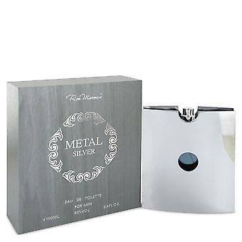 Metal silver eau de toilette spray by ron marone 543043 100 ml