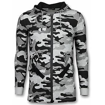 Colete de camuflagem-longo Fit casual Vest-Grey