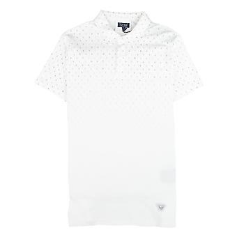 Armani jeans brev logo kort ermet Polo skjorte hvit