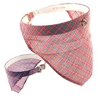 Pet Supply Imports 3438 Plaid Scotch Fancy Bandana Dog Collar 7/8