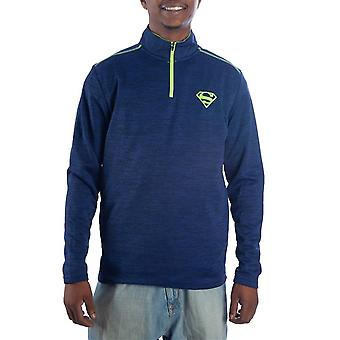 Superman Pullover Half Zip Blue Men's Jacket