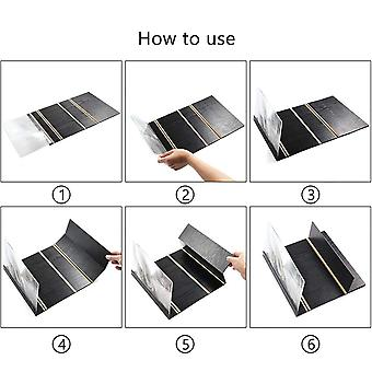 "3D Phone Screen Magnifier Amplifier Foldable Wooden Stand Holder For BLU Win HD LTE 5"" (Black)"