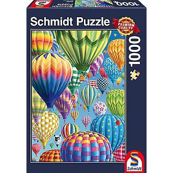 Schmidt bunte Ballons Premium Qualität Puzzle 1000-Stück