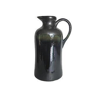 Old-style  ceramic decorative pitcher, black