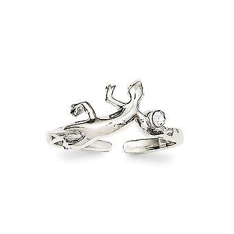 925 Sterling Silver pevné prevedenie jašterica CZ kubický zirkónia simulované Diamond Toe prsteň šperky Darčeky pre ženy