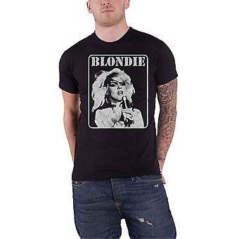 Blondie T Shirt Presente Poster Band Logo Debbie Harry new Official Mens Black
