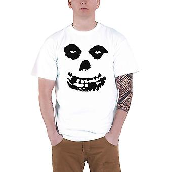 Misfits T Shirt Classic Jurek Skull Band Logo Official Mens New White All Over