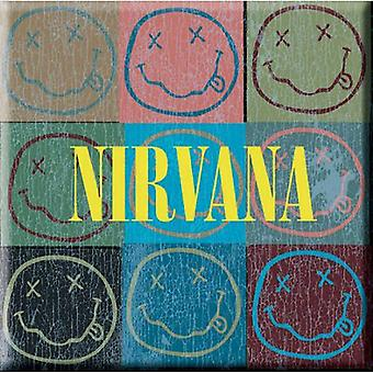 Nirvana Fridge Magnet Blocks Band Logo nouveau 76mm x 76mm
