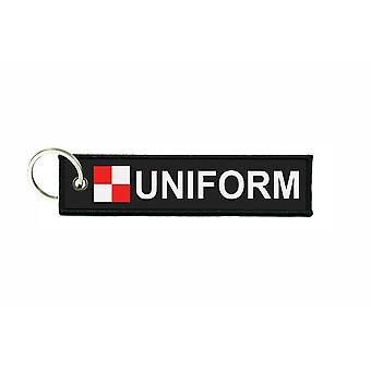 Türklammern stürzt Flagge Code Signale Signal maritime alphabet U UNIFORM