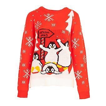 Brave Soul Womens/Ladies Christmas Animal Snow Jumper