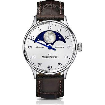 MeisterSinger Men's Watch Classic Plus Lunascope One-Hand Watch Automatic LS901_SG02