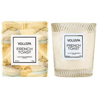 Voluspa Macaron Boxed strukturierte Glas Kerze Französisch Toast 184g