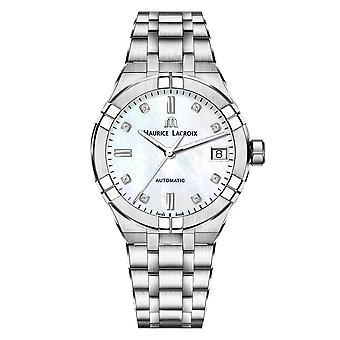Maurice Lacroix AI6006-SS002-170-1 Women's Aikon Diamond Automatic Wristwatch