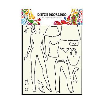 Dutch Doobadoo Mask Stencil - A4 Dress Up Doll #715803