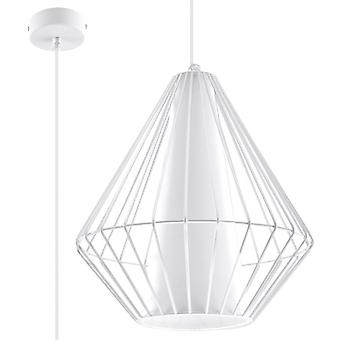 Sollux DEMI 1 Light Caged Ceiling Pendant White SL.0297