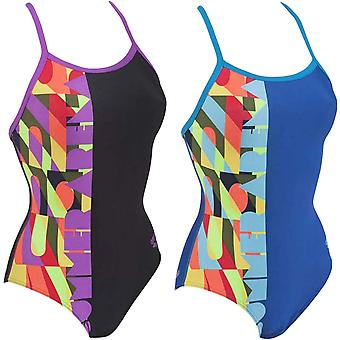 arena Womens Summer One Piece Thin Strap Training Swim Swimming Swimsuit Costume