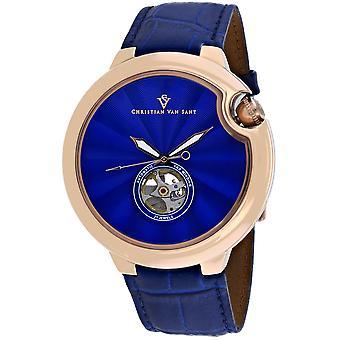 Christian Van Sant Men's Cyclone Automatische blaue Zifferblatt Uhr - CV0143