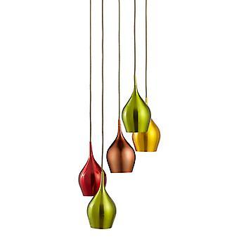 Pear Drop 5 Light Multi Drop Pendant