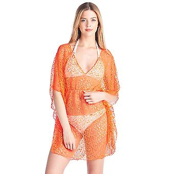 Shore Trendz Women's Crochet Short Sleeve Beach Dress