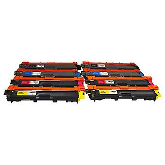 TN-251 TN-255 Premium Generic Toner Set of 8