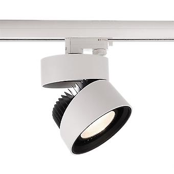 LED cu 3 faze lumina reflectoarelor & amp negru; Alb III 26W 3000K 40 ° alb