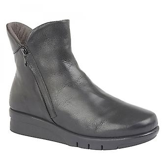 Cipriata Cara Ladies Leather Zip Up Ankle Boot Black