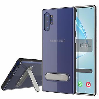 Case Kickstand for Samsung Note 10 Plus Transparent Black