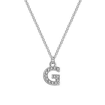 Pave initial necklace letter g created with swarovski® crystals