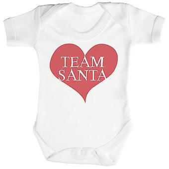 Team Santa Heart Baby Bodysuit / Babygrow