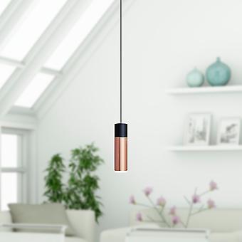 Vela 1 Mini Pendant Lighting Black-Copper