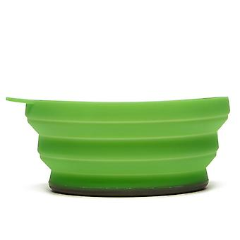 New LIFEVENTURE Silicon Ellipse Bowl Camping Cooking Eating Green