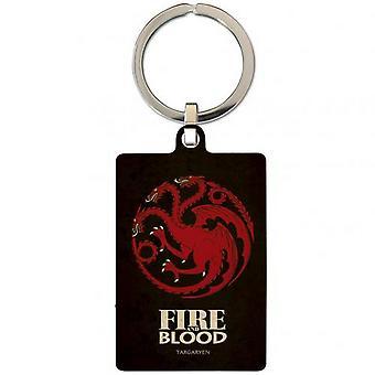 Game Of Thrones Daenerys Metal Keyring