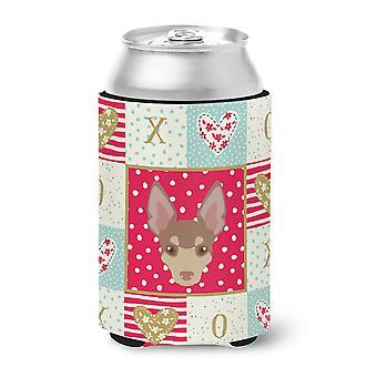 Carolines Treasures  CK5220CC Miniature Fox Terrier Love Can or Bottle Hugger