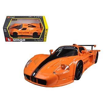 Maserati MC 12 Orange 1/24 Diecast Model Car par Bburago