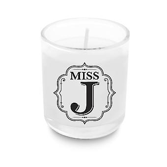 Heart & Home Alphabet Votive Candle - Miss J