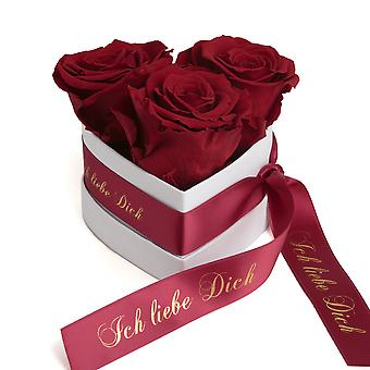 I Love You Gift Flowers 3 Eternal Roses Dark Red
