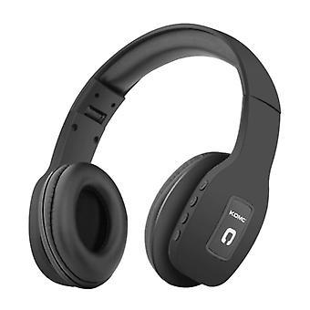 KOMC Wireless Headphones Bluetooth Wireless Headphones Stereo Gaming Black