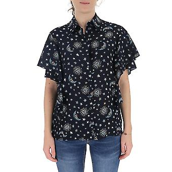 Alberta Ferretti 02141642a1290 Women's Black Cotton Shirt