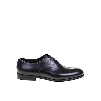 Doucal's Du1002rennuf028nn00 Men's Black Leather Lace-up Shoes