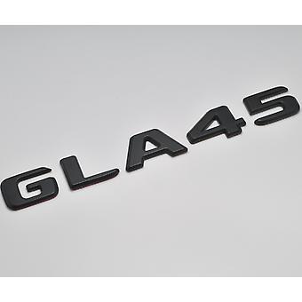 Matt schwarz GLA45 flach Mercedes Benz Auto Modell Nummern Buchstaben Abzeichen Emblem für GLA Klasse X156 AMG