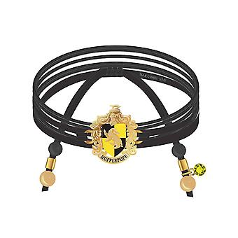 Pulseira de Harry Potter Hufflepuff Suede Wrap Charms and Beads novo oficial