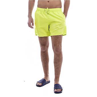 Metallic Logo Bath Shorts - Emporio Armani