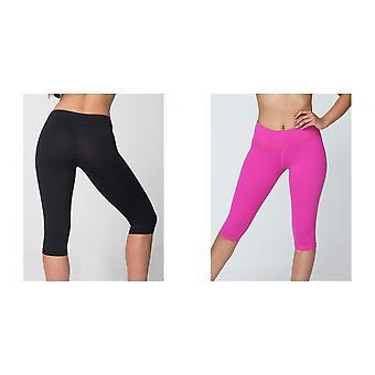الملابس الأمريكية النسائية/السيدات الركبة الطول اللياقة البدنية طماق/القيعان