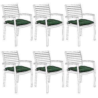 Gardenista Puutarha tuoli istuintyyny siteet | Slip Ilmainen Hypoallergenic Tufted Pad | Vedenkestävä paksu laatu | Suuri sisätiloihin ja ulkokäyttöön | Turvalliset siteet | 6 kpl (vihreä)