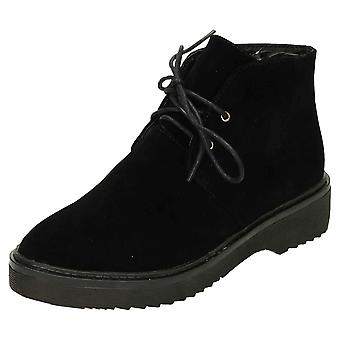 Koi Footwear Lace Up Faux Suede Ankle Desert Boots