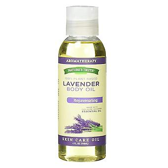 Nature's truth lavender body oil, skin care, 4 oz