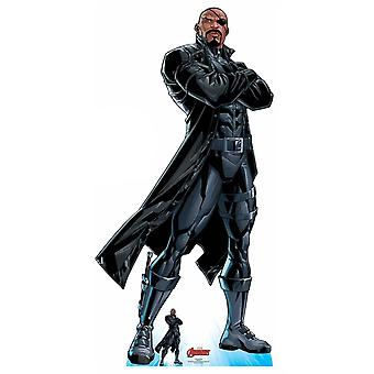 Nick Fury Official Lifesize Marvel Avengers Cardboard Cutout / Standee