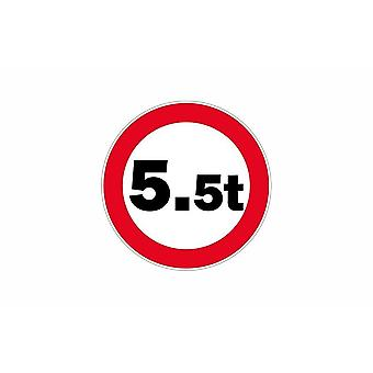 Stick sticker sign sign forbids truck HGVs 5.5 t